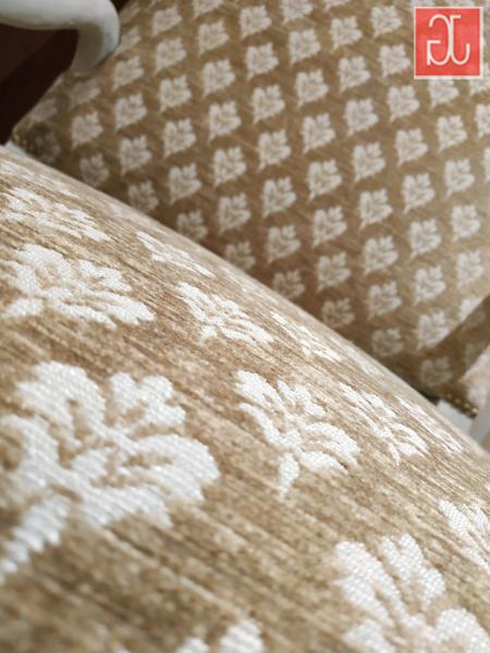 Tissu macaron beige