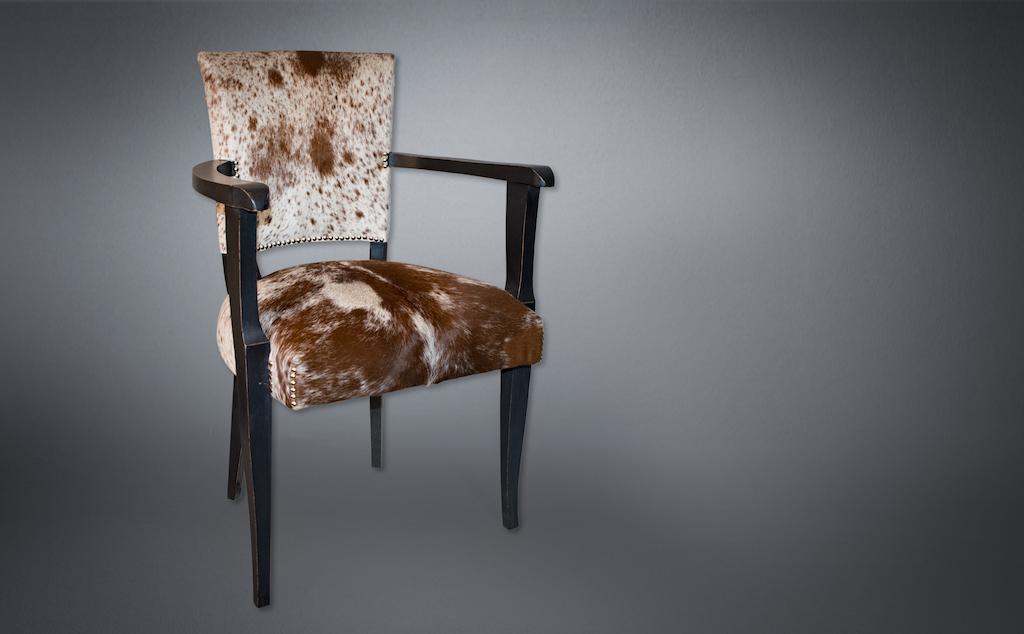 Aurélie Legrand Tapissière artisan Apt fauteuil bridge vache