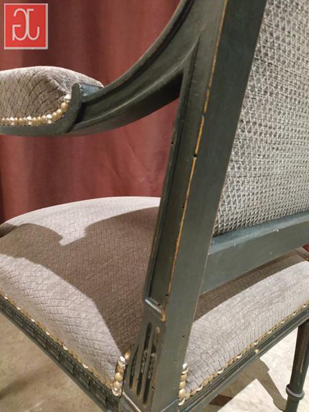 Dossier entoilé sur l'envers du velours - Aurélie Legrand tapissière