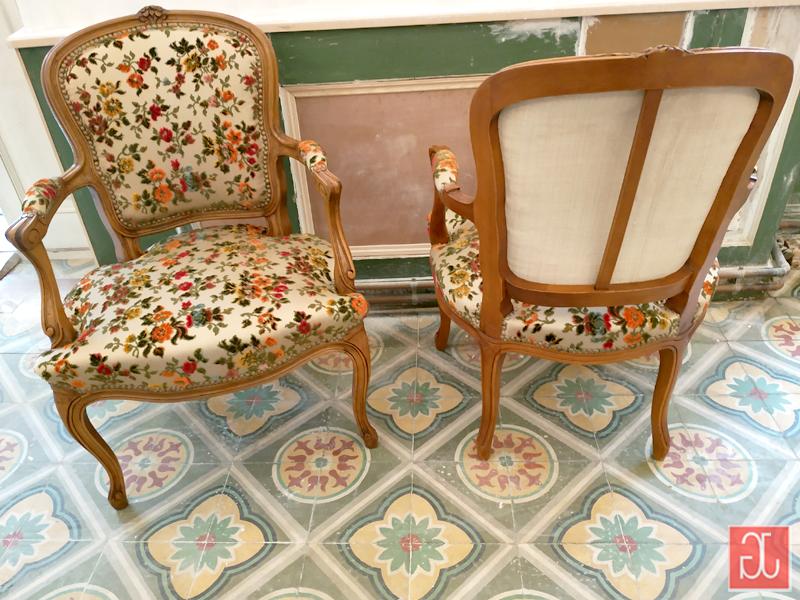 Entoilage dossier chanvre ancien - Aurélie Legrand tapissière