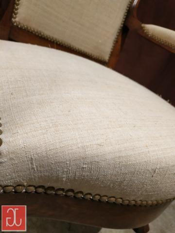 Couverture chanvre ancien - Aurélie Legrand tapissière