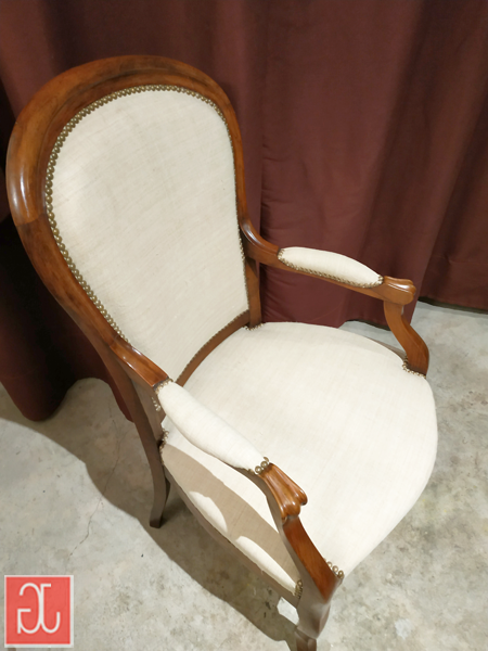 Réfection cabriolet Louis-Philippe - Aurélie Legrand tapissière