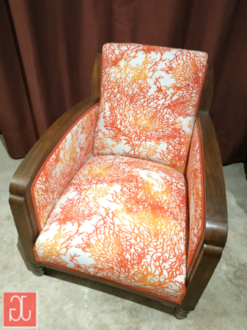 Fauteuil club vintage - Aurélie Legrand tapissière
