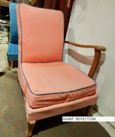 Réfection fauteuils vintage - Aurélie Legrand tapissière