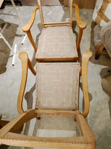 Garnissage traditionnel crin sur ressorts - Aurélie Legrand tapissière