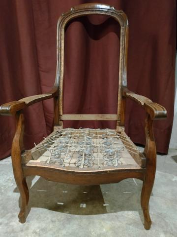 Garnissage traditionnel en crin sur ressorts - Aurélie Legrand tapissière
